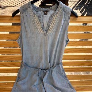 Eddie Bauer sleeveless denim dress